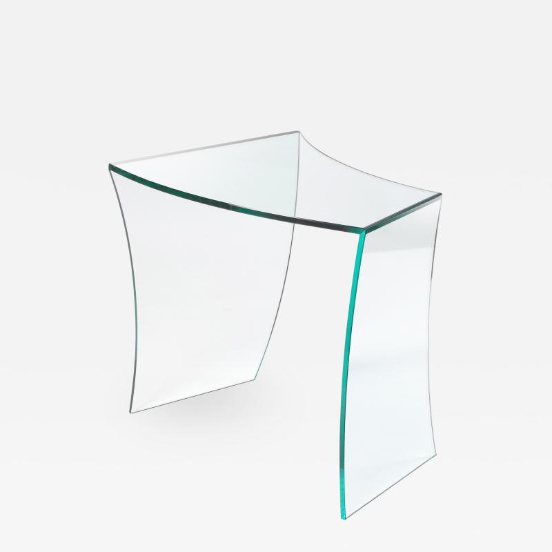 Barberini Gunnell Side table or bedside in clear glass made in Italy