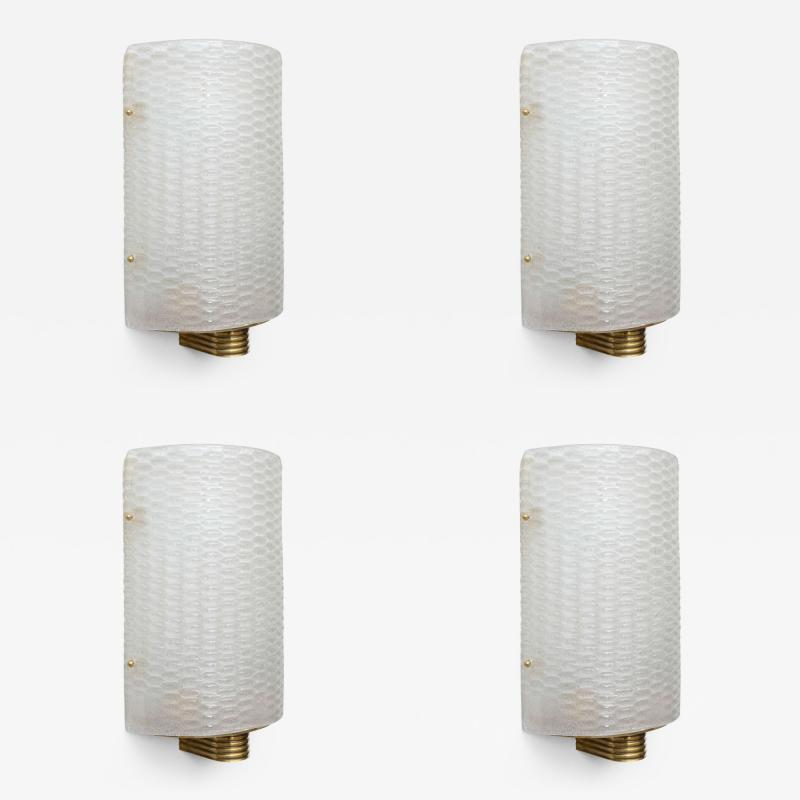 Barovier Toso A Set of 4 Italian Modern Barovier and Toso Wall Lights