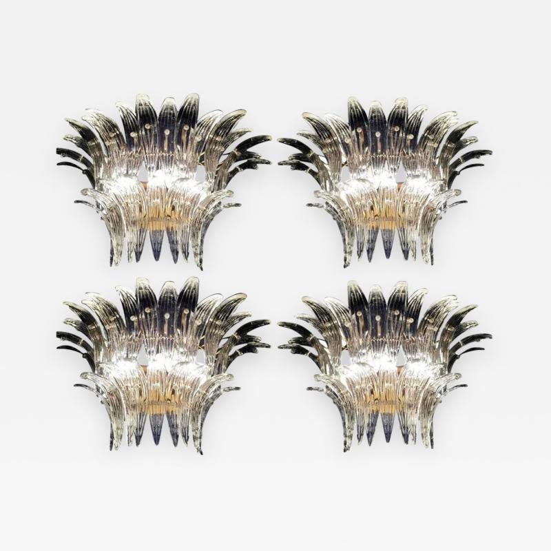 Barovier Toso Four Palmette Sconces by Barovier Toso 1960s
