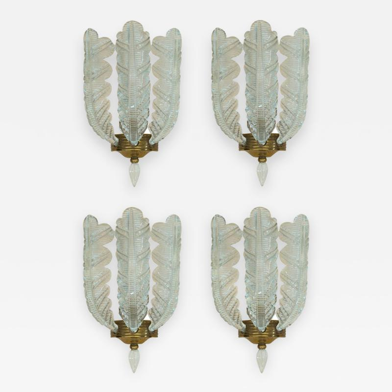 Barovier Toso Four Sconces Attributed to Barovier