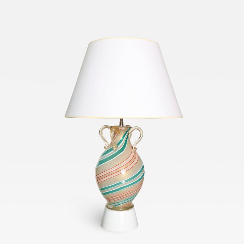 Barovier Toso Handblown Glass Lamp by Barovier