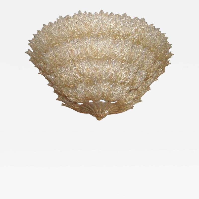 Barovier Toso Majestic Murano Ceiling Light by Barovier Toso circa 1970s