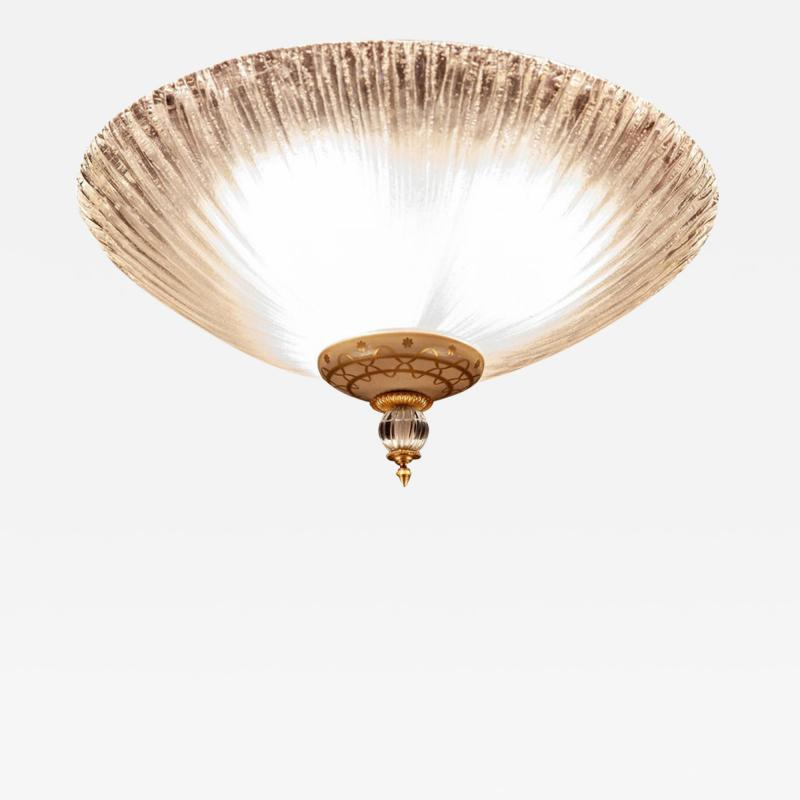 Barovier Toso Murano Glass Flush Mount or Ceiling Light Barovier e Toso Style 1950