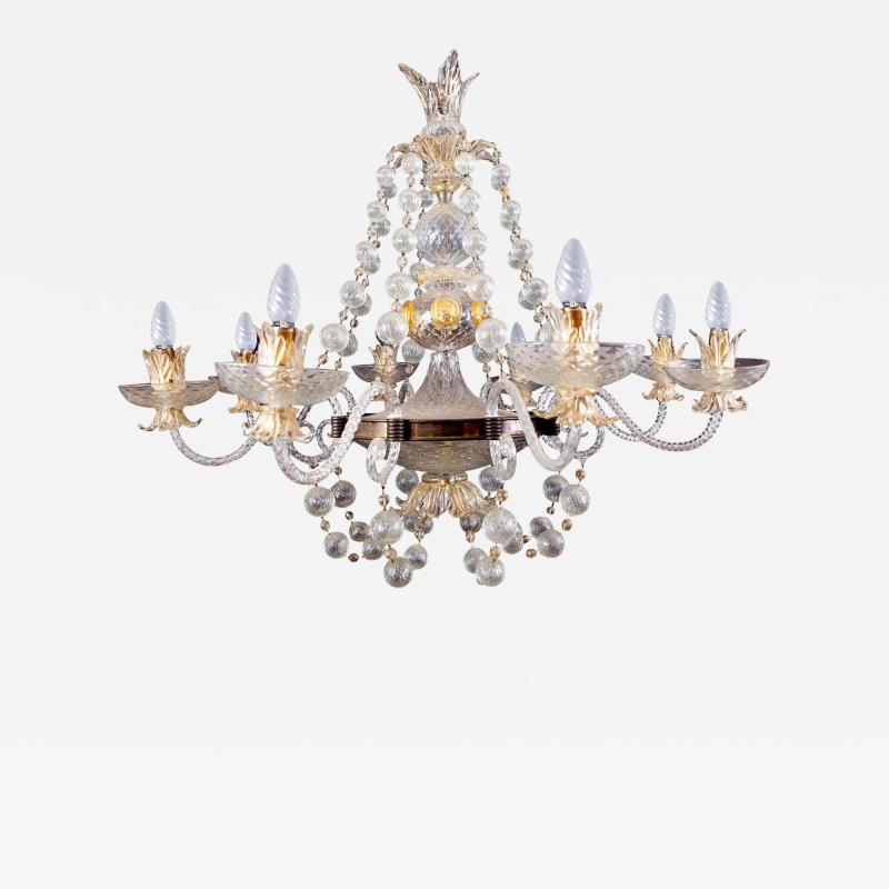Barovier Toso Overwhelming Murano Glass Chandelier by Barovier Toso 1960