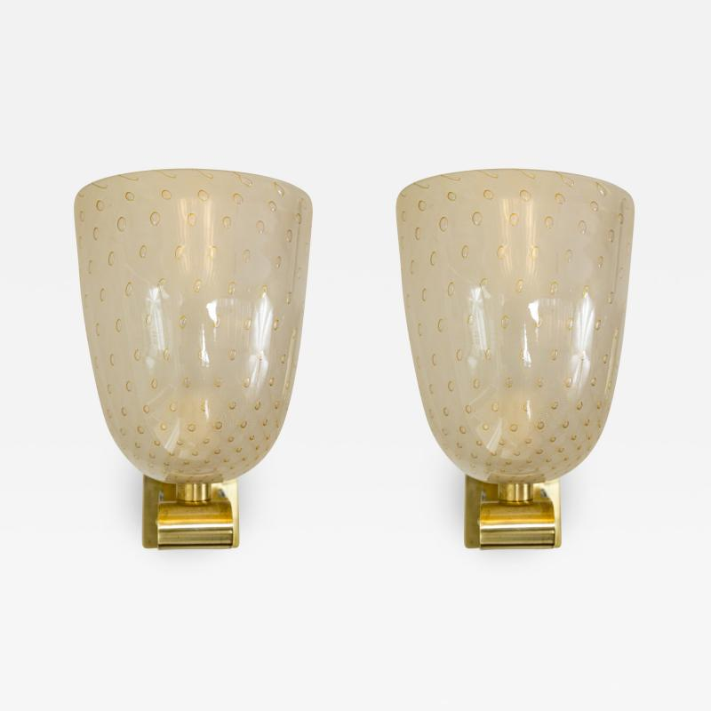 Barovier Toso Pair of Barovier Style Wall Lights Contemporary