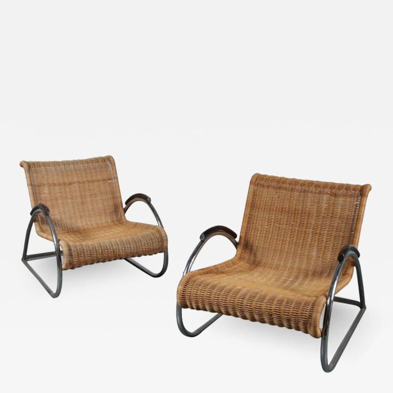 Bauhaus Very Rare Pair of Bauhaus Armchairs