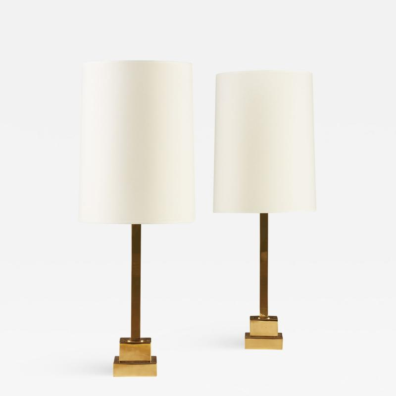 Bergboms Midcentury Table Lamps in Brass by Bergboms Sweden 1960s