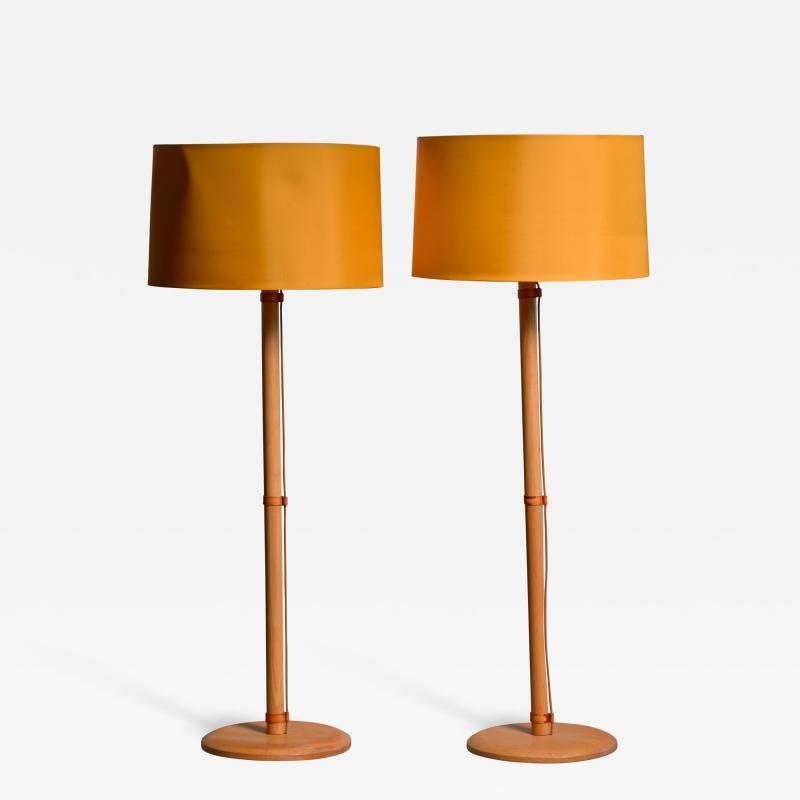 Bergboms Pair of Bergboms birch floor lamps