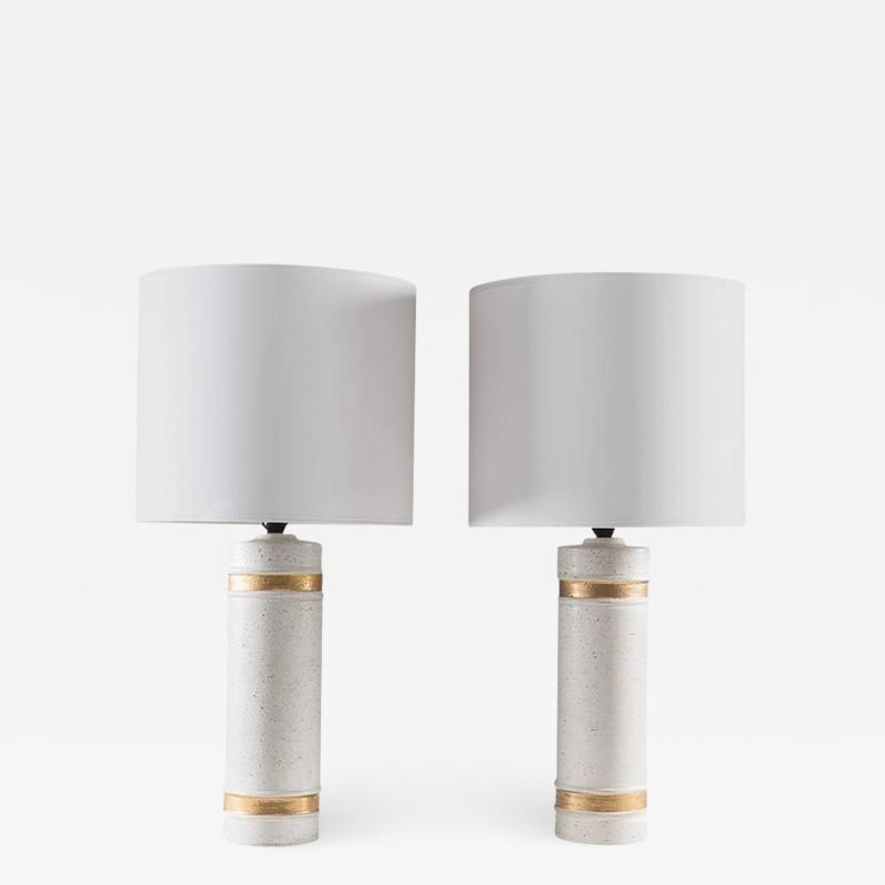 Bergboms Pair of Table Lamps by Bitossi for Bergboms