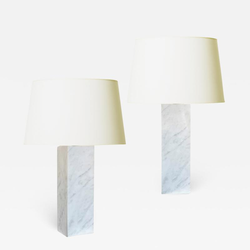 Bergboms Pair of Table Lamps in Marble by Bergboms