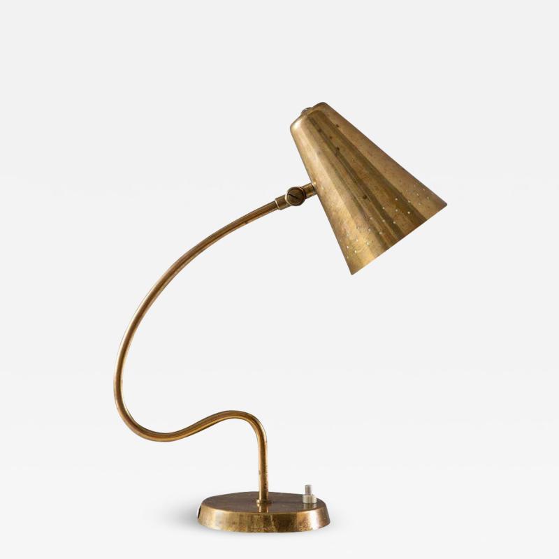 Bergboms Scandinavian Midcentury Desk Lamp in Brass by Bergboms