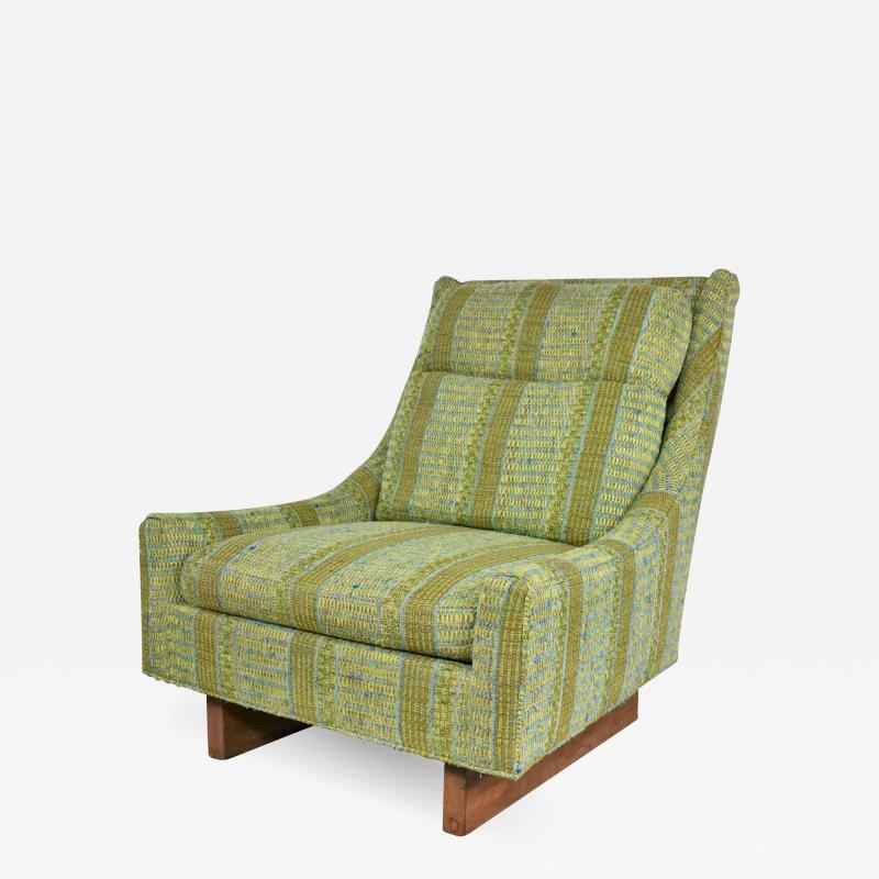 Bernhardt Furniture Company Vintage mid century modern high back lounge chair by flair division of bernhardt
