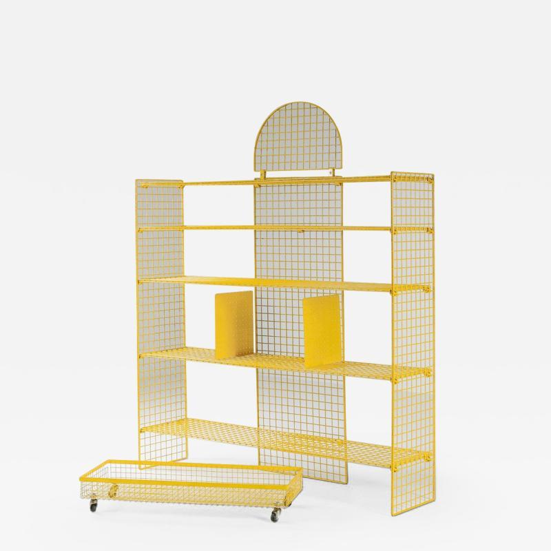 Bieffeplast Bieffeplast Yellow Metal Shelve System Post Modern Italian Design 1970