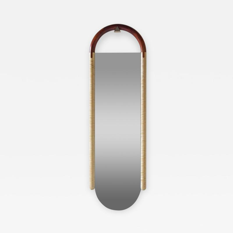 Birnam Wood Studio Halo Mirror Wall Mounted Birnam Wood Studio in Cherry and Curly Maple