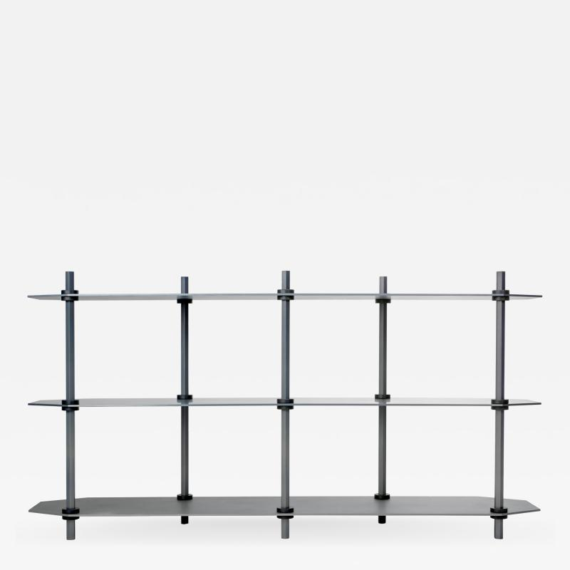 Birnam Wood Studio One of a Kind Hex Shelving in Blue Aluminum