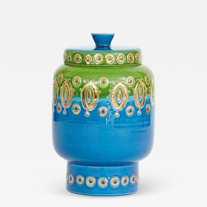 Bitossi 1960s Ceramic Jar with Lid by Bitossi for Rosenthal Netter Made in Italy