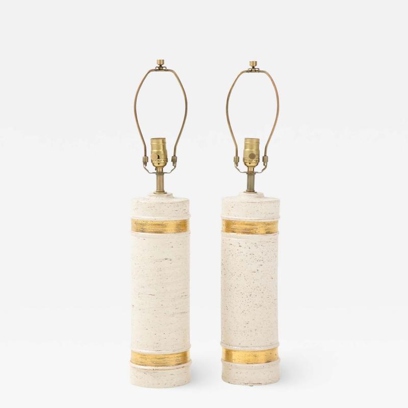 Bitossi Bitossi BirchTree 22kt Gold Band Glazed Lamps