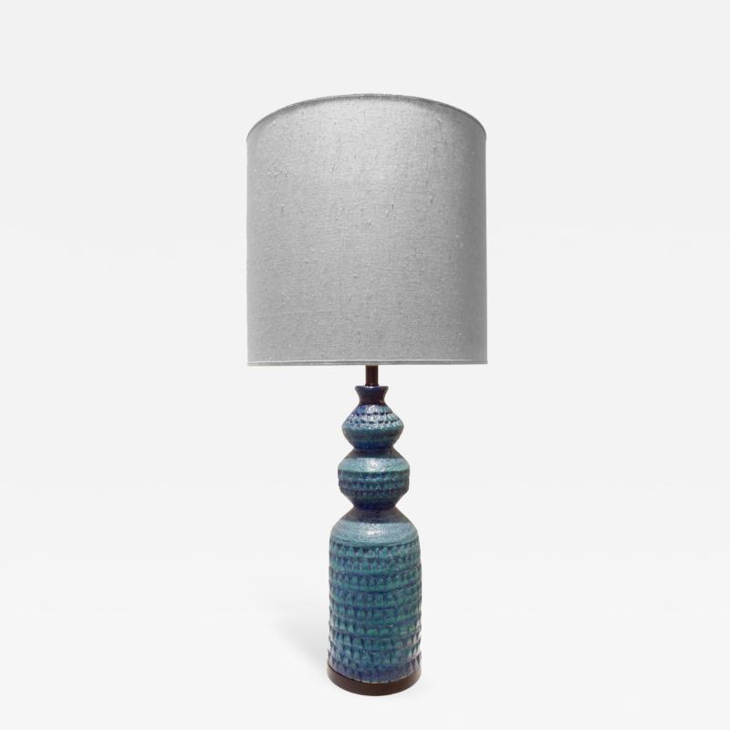 Bitossi Bitossi Large Textural Studio Made Ceramic Table Lamp 1950s