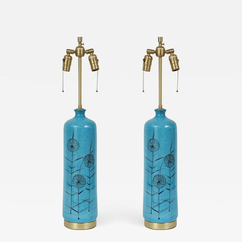 Bitossi Bitossi cerulean Blue Ceramic Lamps