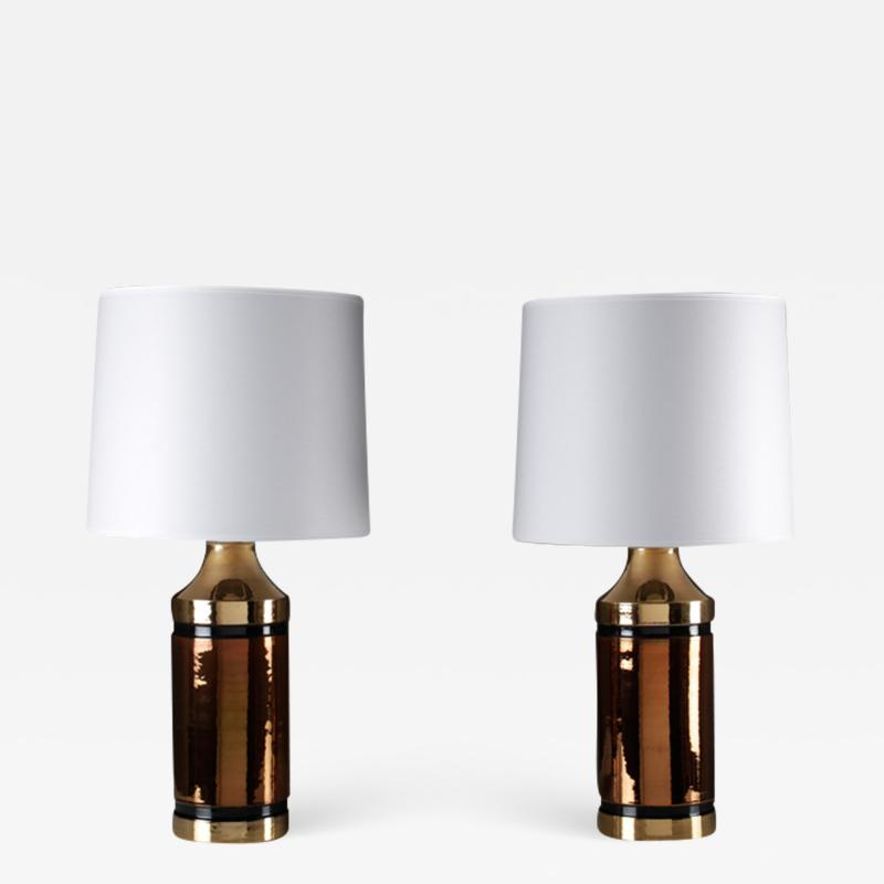 Bitossi Pair of Table Lamps by Bitossi