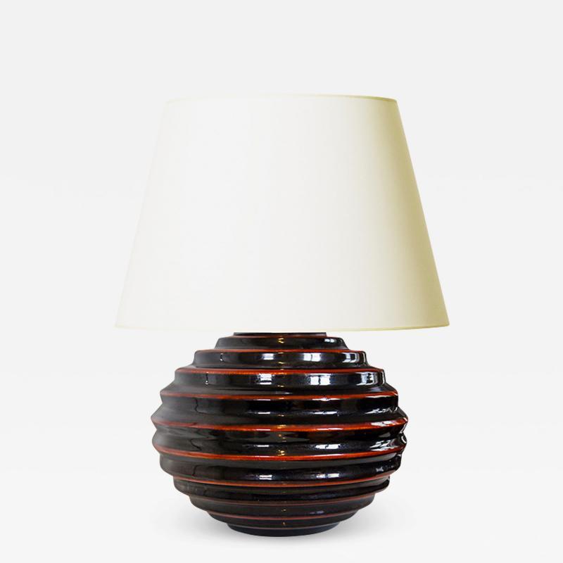 Bo Fajans Iconic Funkis Style Table Lamp by Ewald Dahlskog