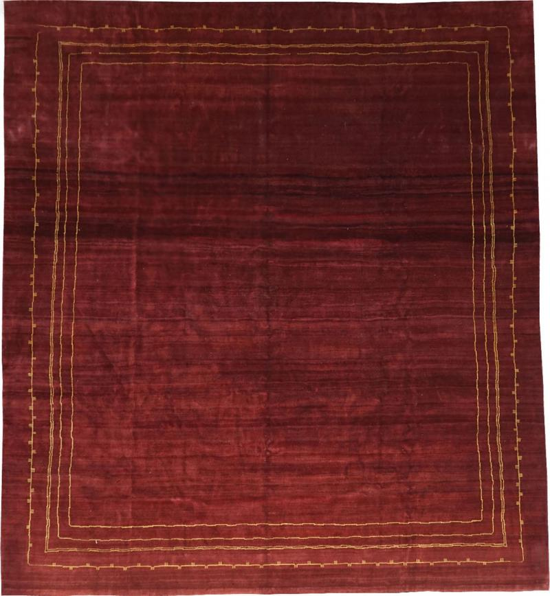 Boccara BOCCARA EXCLUSIVE MONOCHROME WOOL RUG BORDEAUX