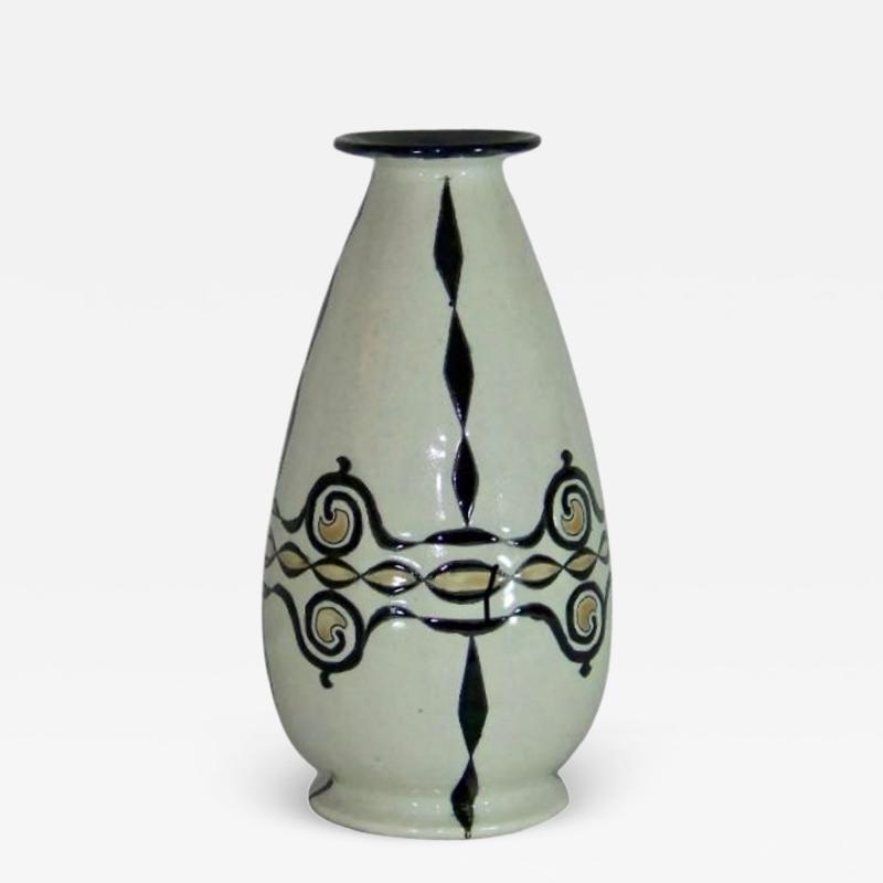 Boch Fr res Keramis Co Catteau Boch Freres Art Deco Geometric Stoneware Vase