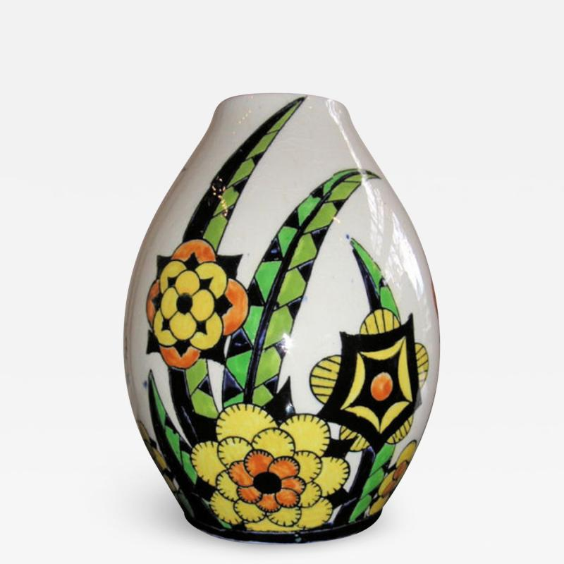 Boch Fr res Keramis Co Rare Boch Pottery Vase