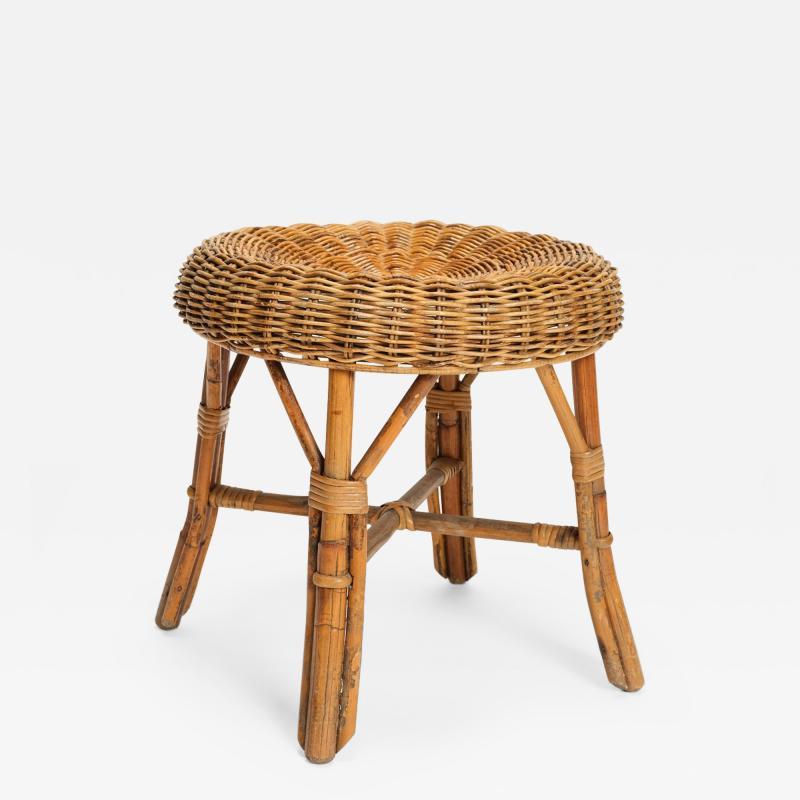 Bonacina Bonacina stool bamboo and rattan braided