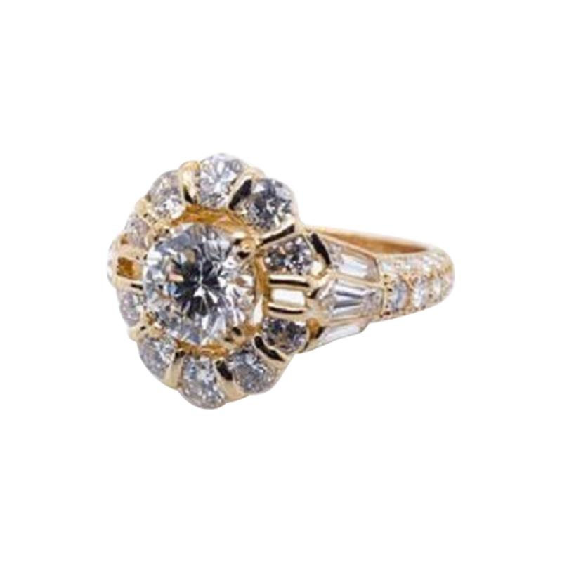 Boucheron BOUCHERON 1 02 CARAT ROUND DIAMOND F IF GIA RING