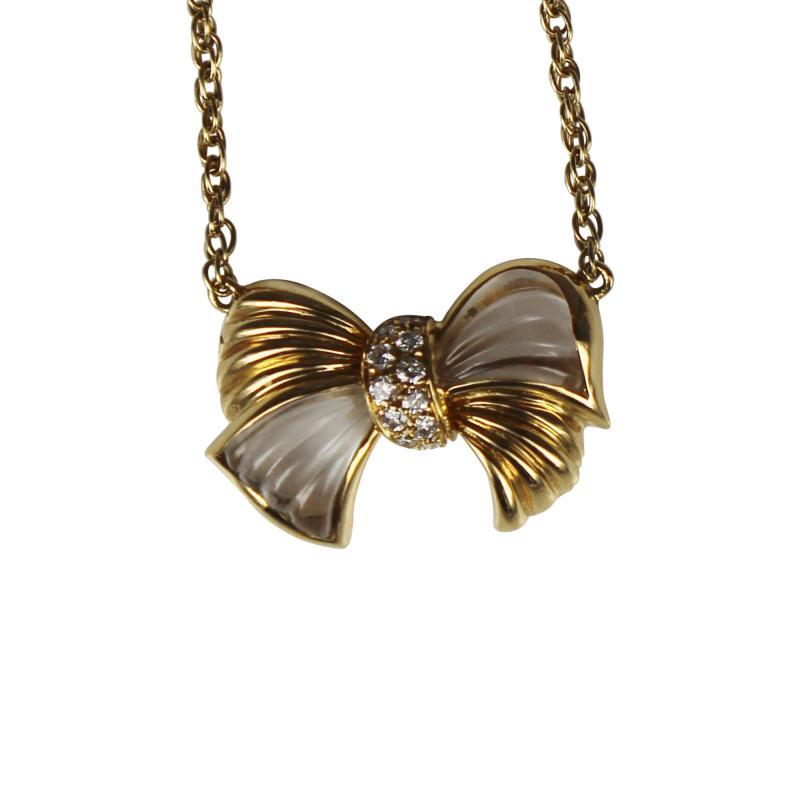Boucheron Boucheron Bow Pendant with Diamonds and Crystal
