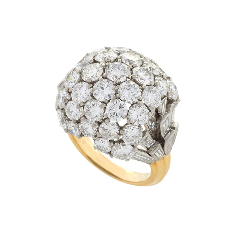 Boucheron Boucheron Diamond Platinum and Gold Bomb Ring