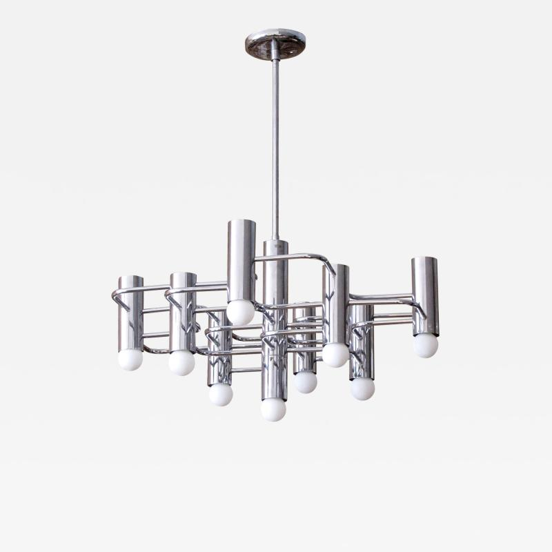 Boulanger Chrome Chandelier by Boulanger 1960