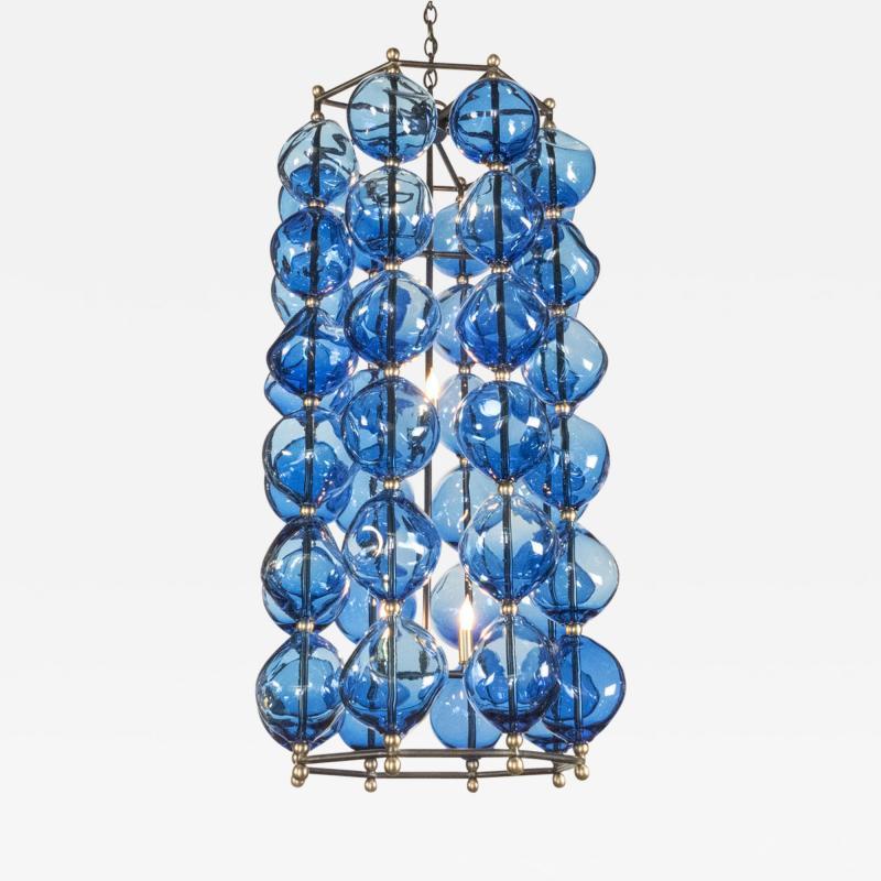 Bourgeois Boheme Atelier Aqua Blue Opera Chandelier by Bourgeois Boheme Atelier
