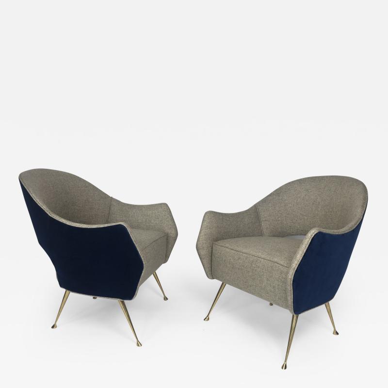 Bourgeois Boheme Atelier Pair of Briance Chairs Bi color by Bourgeois Boheme Atelier