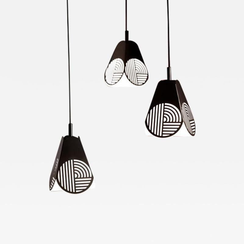 Bower Studio Ensemble of Notic Pendant Lamps by Bower Studio