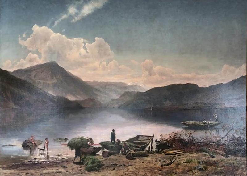 Branford Antiques Home Design Worthington T Whittredge 1820 1910 Landscape Painting