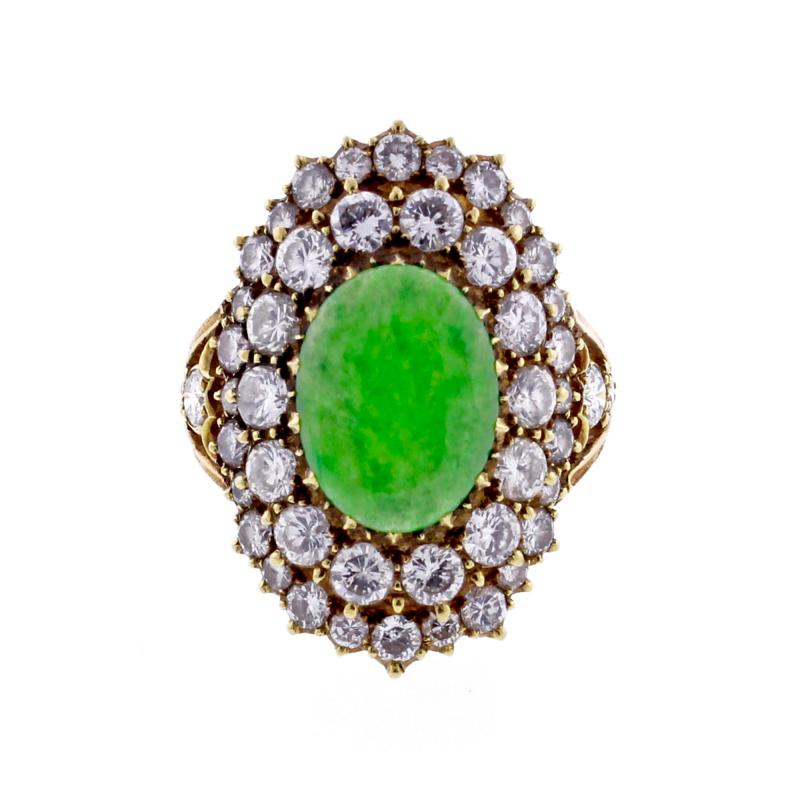Buccellati Buccellati Diamond and Jade Ring