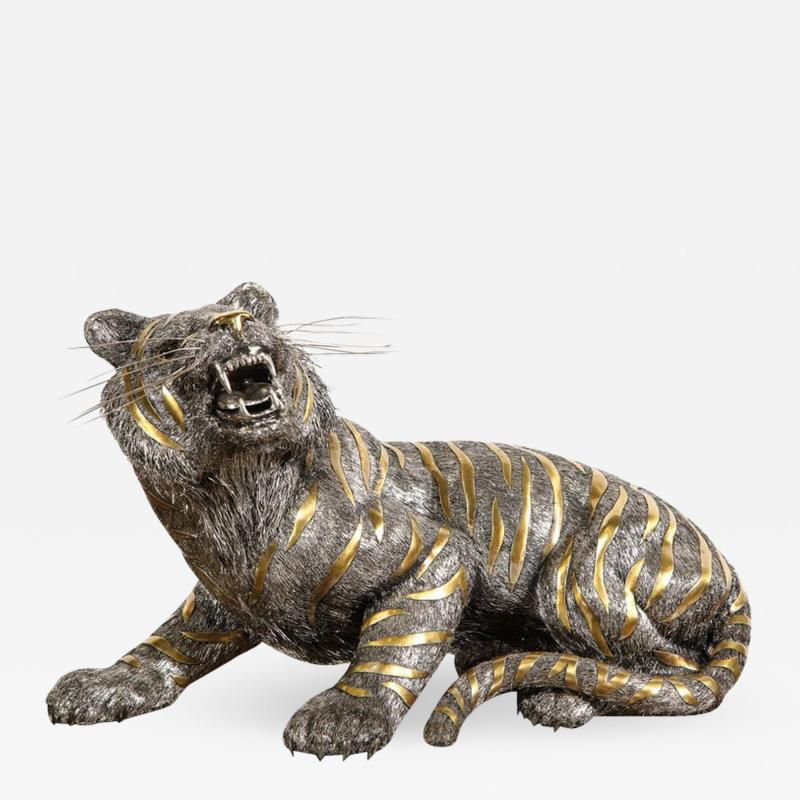 Buccellati Gianmaria Buccellati a Rare and Exceptional Italian Silver Striped Tiger