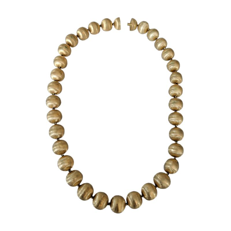 Buccellati Mario Buccelatti Gold Bead Necklace