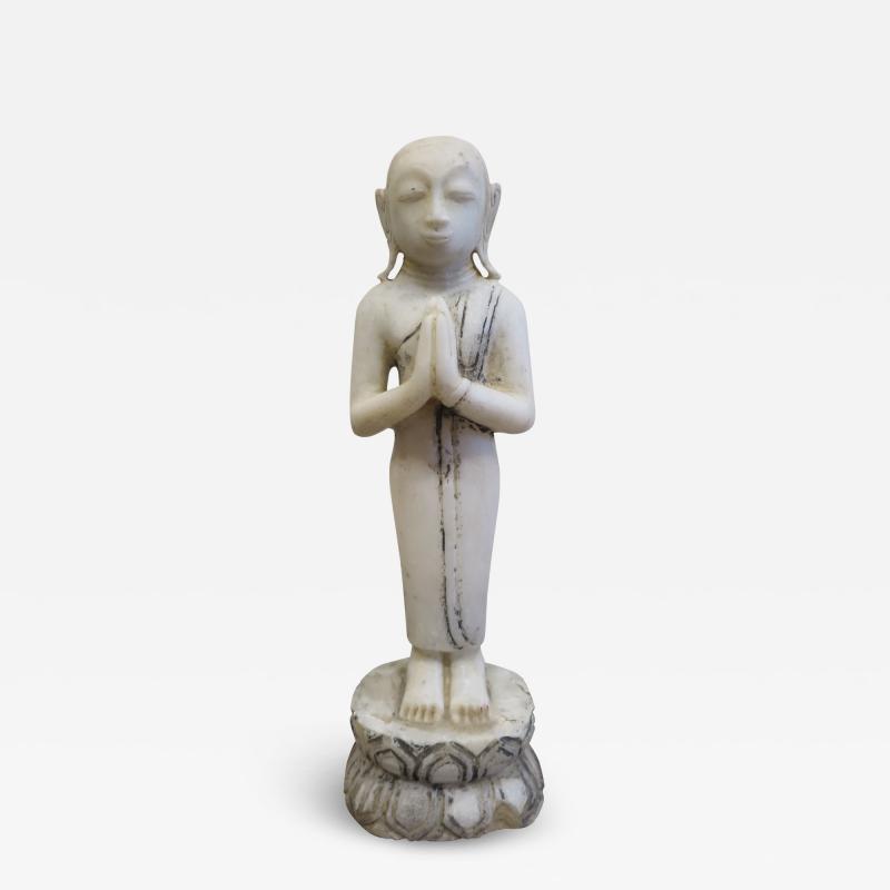 Buddha Buddhism 19th Century Alabaster Burmese Buddhist Statue