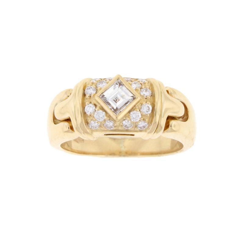Bulgari Bulgari Square Diamond Ring