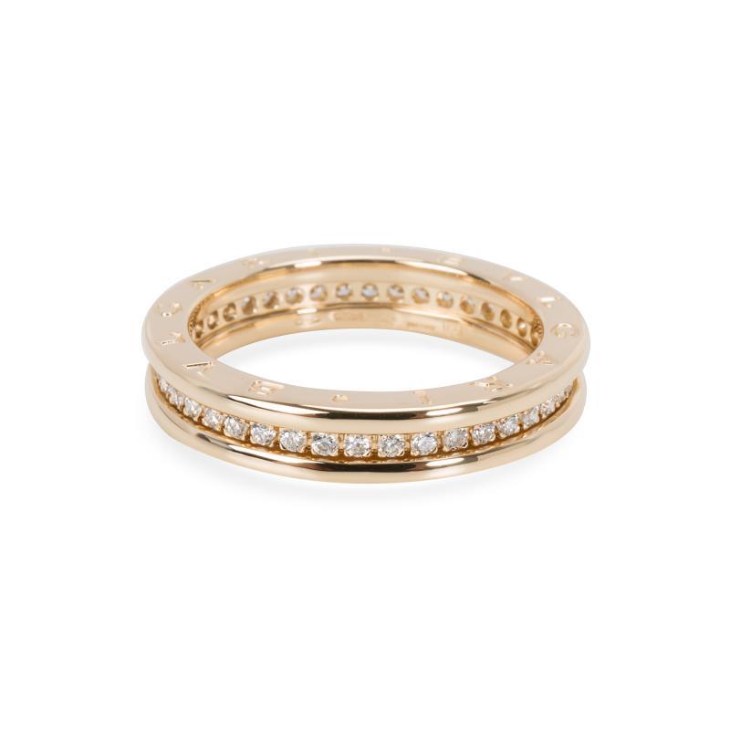 Bvlgari Bulgari Bulgari B Zero 1 Diamond Ring in 18KT Yellow Gold 0 6 CTW