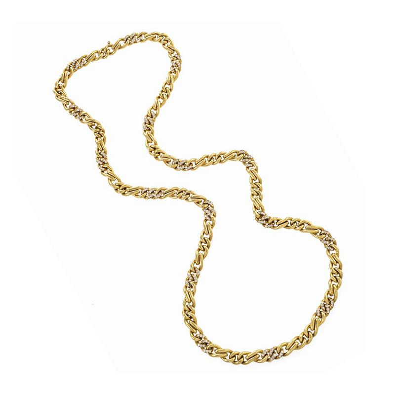 Bvlgari Bulgari Bulgari Diamond Accented Gold Chain