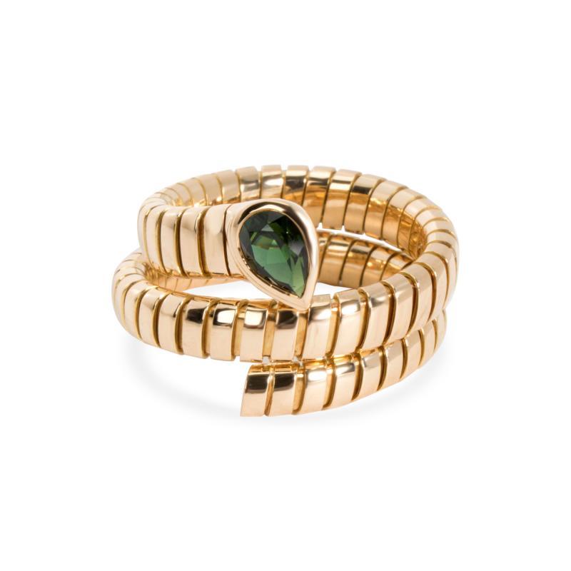 Bvlgari Bulgari Bulgari Serpenti Garnet Tubogas Ring in 18K Yellow Gold