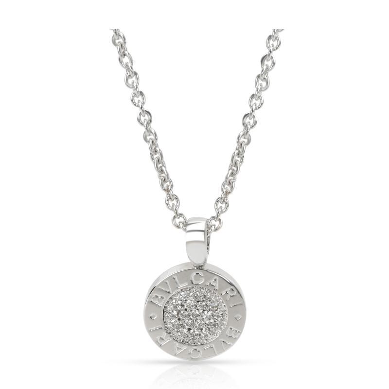 Bvlgari Bulgari Bvlgari Bvlgari Diamond Pendant in 18K White Gold 0 19 CTW