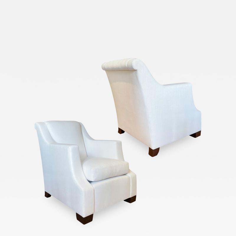 COMTE Fine pair of armchairs by Jean Michel Frank
