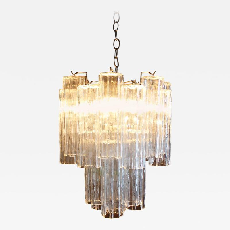 Camer Glass Murano Tronchi Chandelier Attributed to Camer Glass