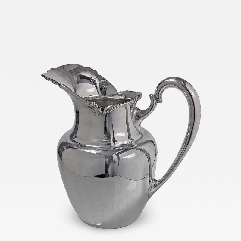 Camusso 1950s Camusso Sterling Silver Water Pitcher Lima Peru