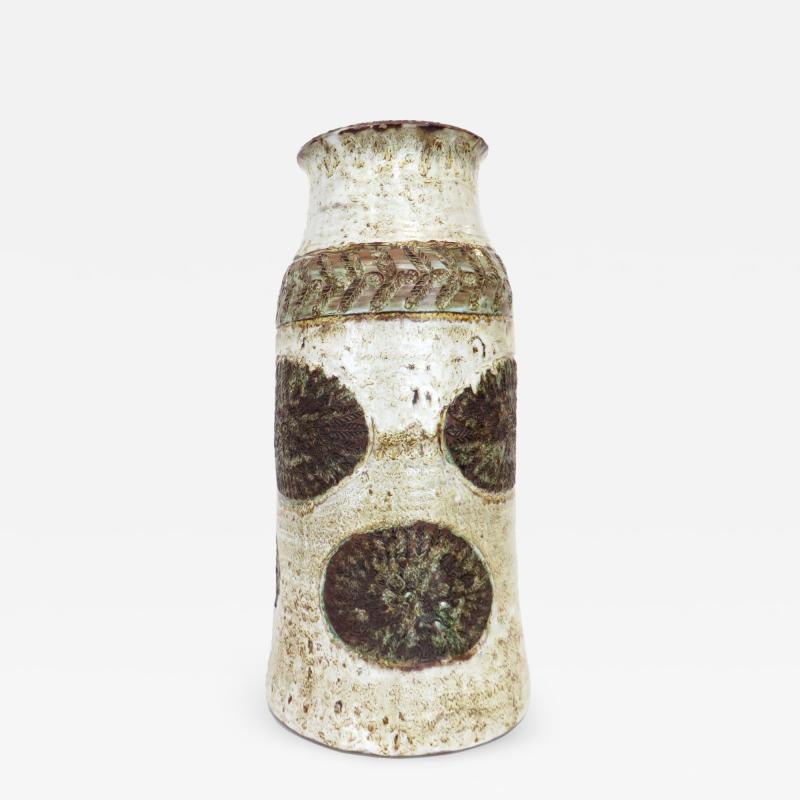 Cardelle French Ceramic Vase from Vallauris France Signed Cardelle Vallauris